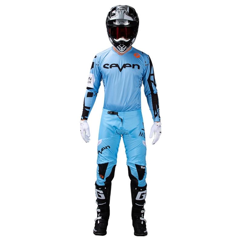 Completo cross Seven Rival Trooper 2 Blue 2020 pantaloni+maglia 1