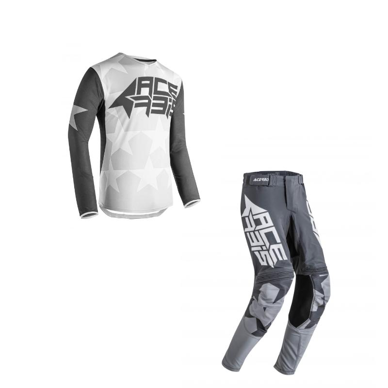 Completo cross enduro Acerbis X-FLEX STARWAY Grigio maglia+pantaloni 1