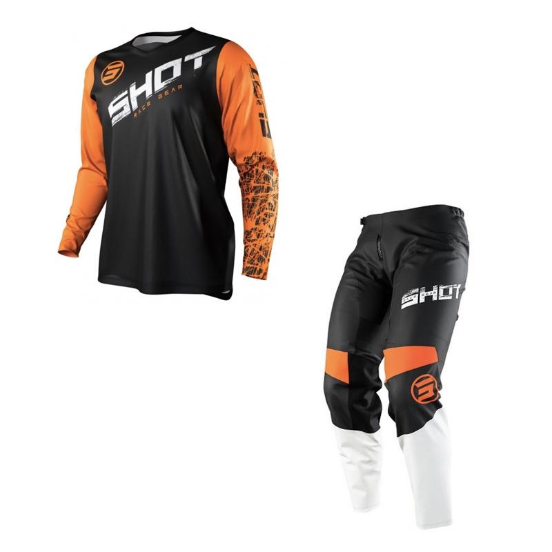 Completo cross bambino Shot DEVO SLAM Orange pantaloni+maglia 1