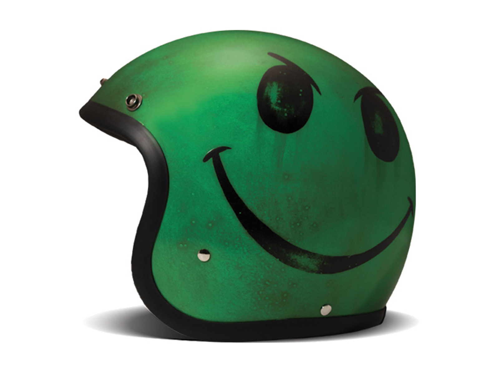 Casco jet Dmd VINTAGE Handmade SMILE Acid Green 1