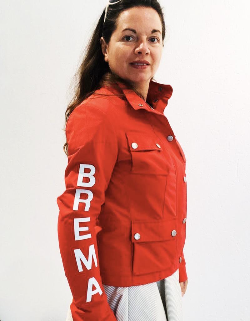 Giacca moto donna Brema SILVER VASE J-Women Rosso 2