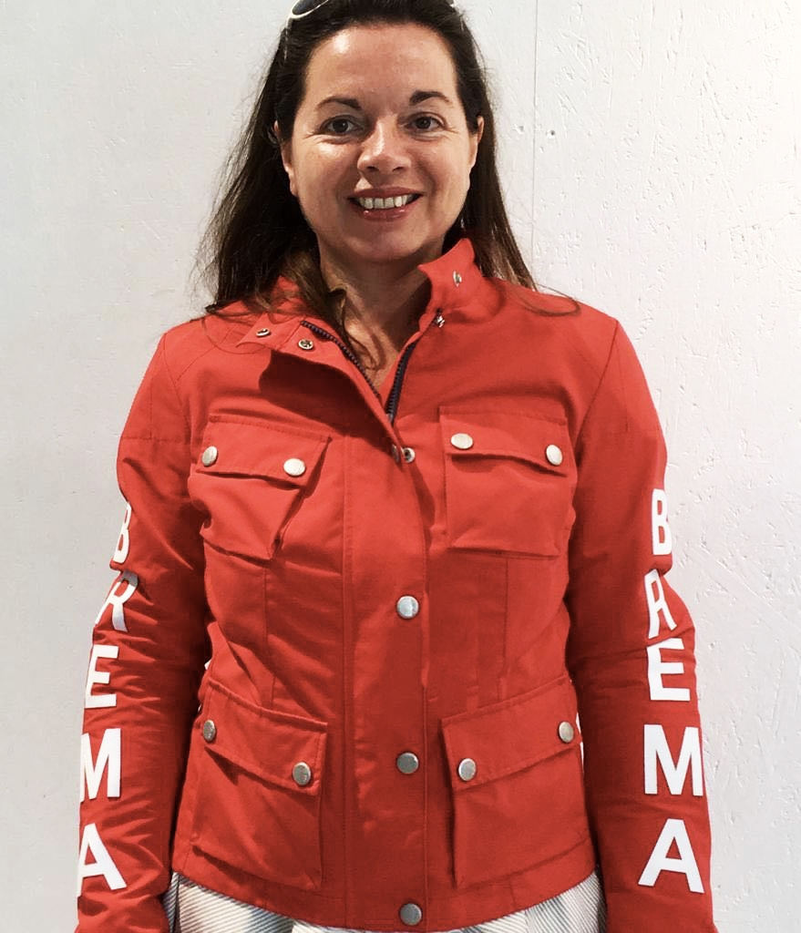 Giacca moto donna Brema SILVER VASE J-Women Rosso 1