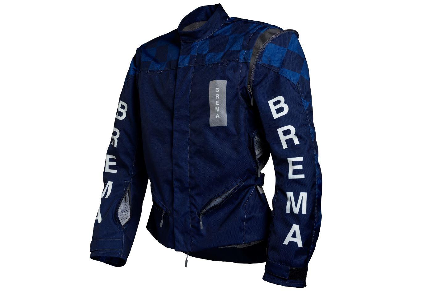 Giacca moto Brema TROFEO CHESS Navy 1
