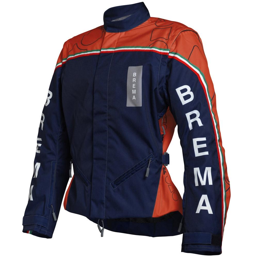 Giacca moto Brema TROFEO 2 Navy Arancio 1