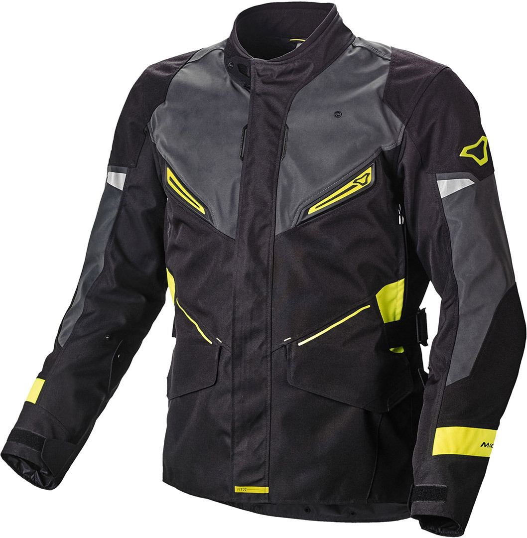 Giacca moto impermeabile Macna SONAR Night Eye Nero Giallo 1