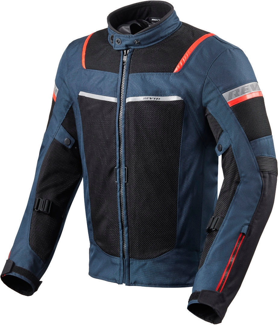 Giacca moto traforata Rev'it TORNADO 3 Dark Blue Black 1