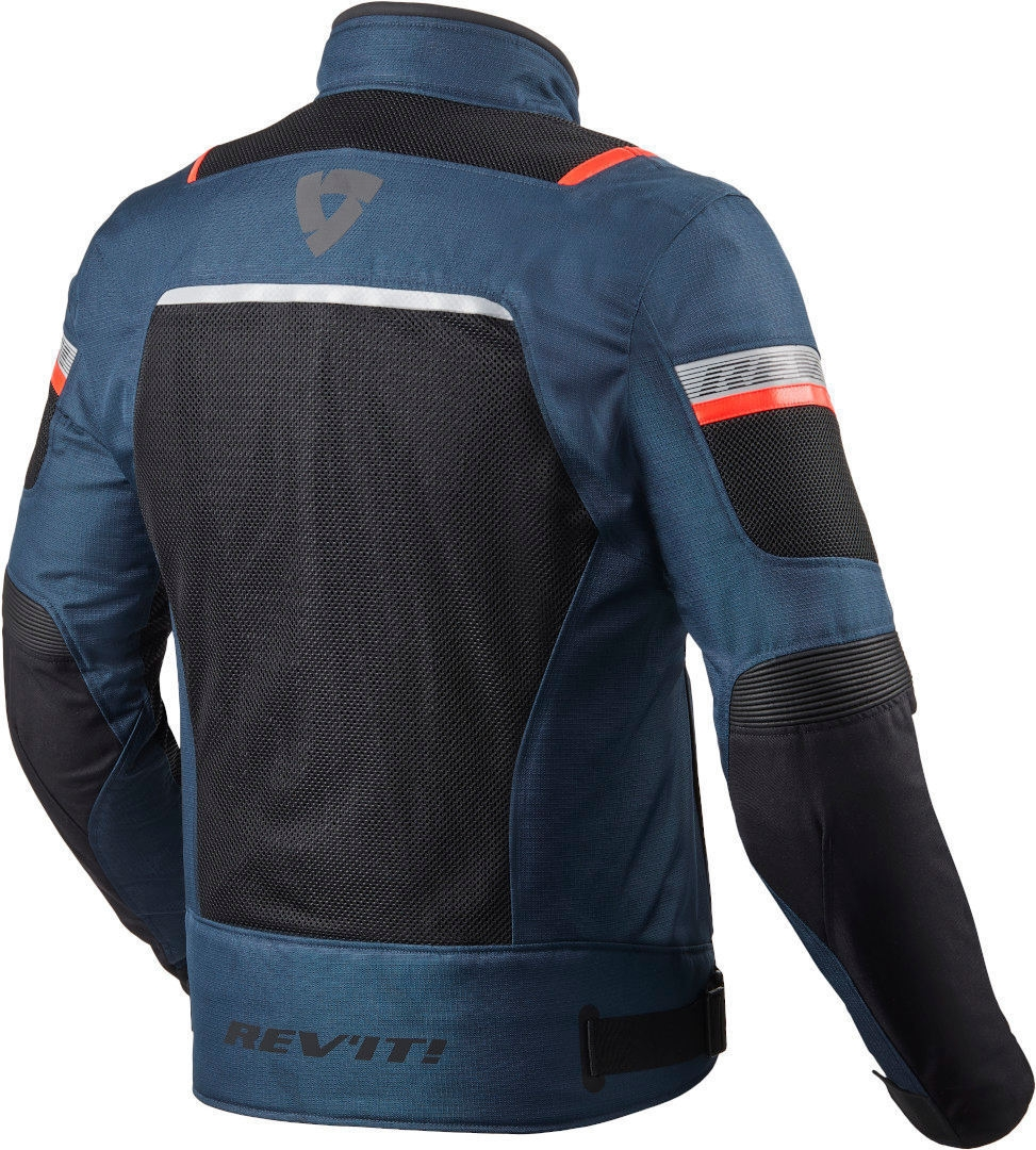 Giacca moto traforata Rev'it TORNADO 3 Dark Blue Black 2