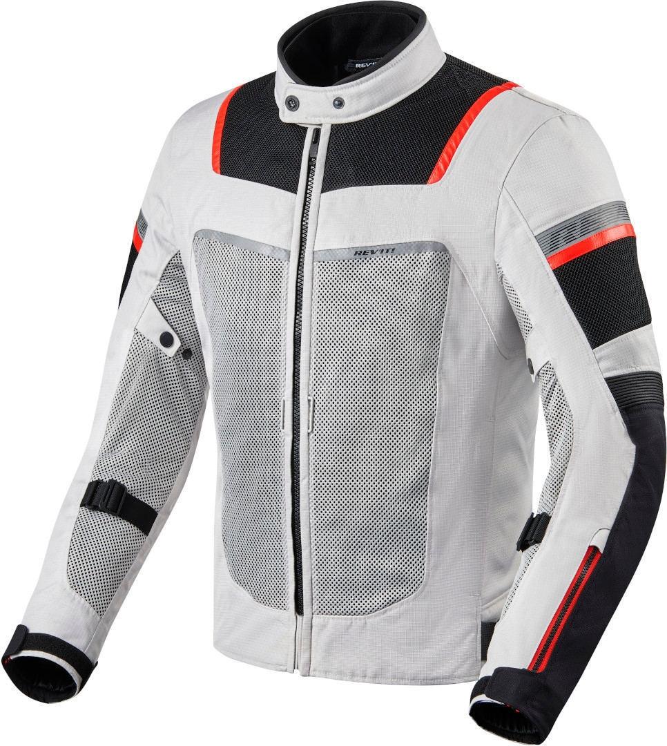 Giacca moto traforata Rev'it TORNADO 3 Silver Black 1