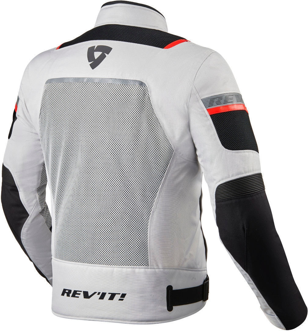 Giacca moto traforata Rev'it TORNADO 3 Silver Black 2