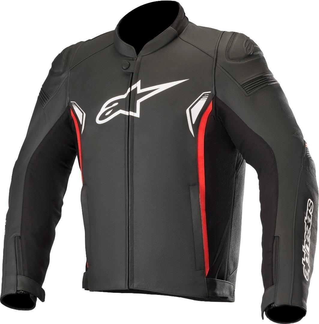 Giubbino moto pelle racing Alpinestars SP-1 V2 Leather nero rosso 1