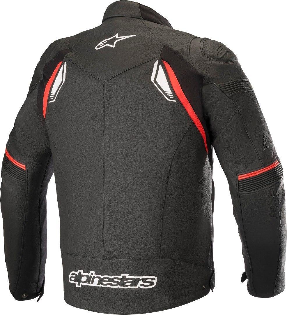 Giubbino moto pelle racing Alpinestars SP-1 V2 Leather nero rosso 2