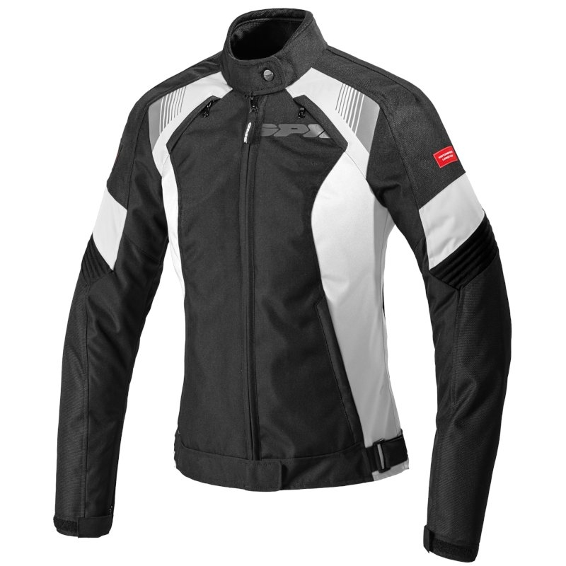 Giubbino moto Donna Spidi FLASH EVO LADY Bianco Nero 1