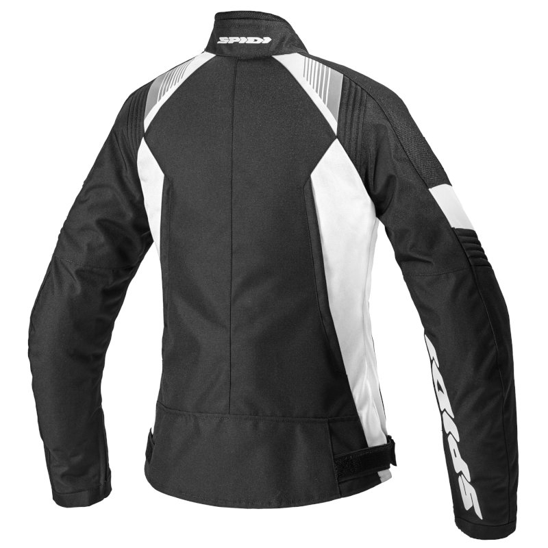 Giubbino moto Donna Spidi FLASH EVO LADY Bianco Nero 2