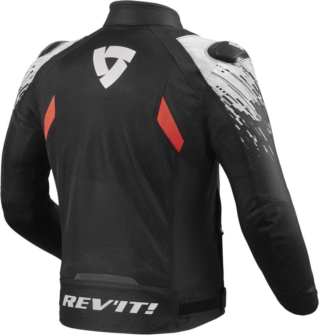 Giubbino moto ventilato Rev'it QUANTUM 2 AIR Nero Bianco 2