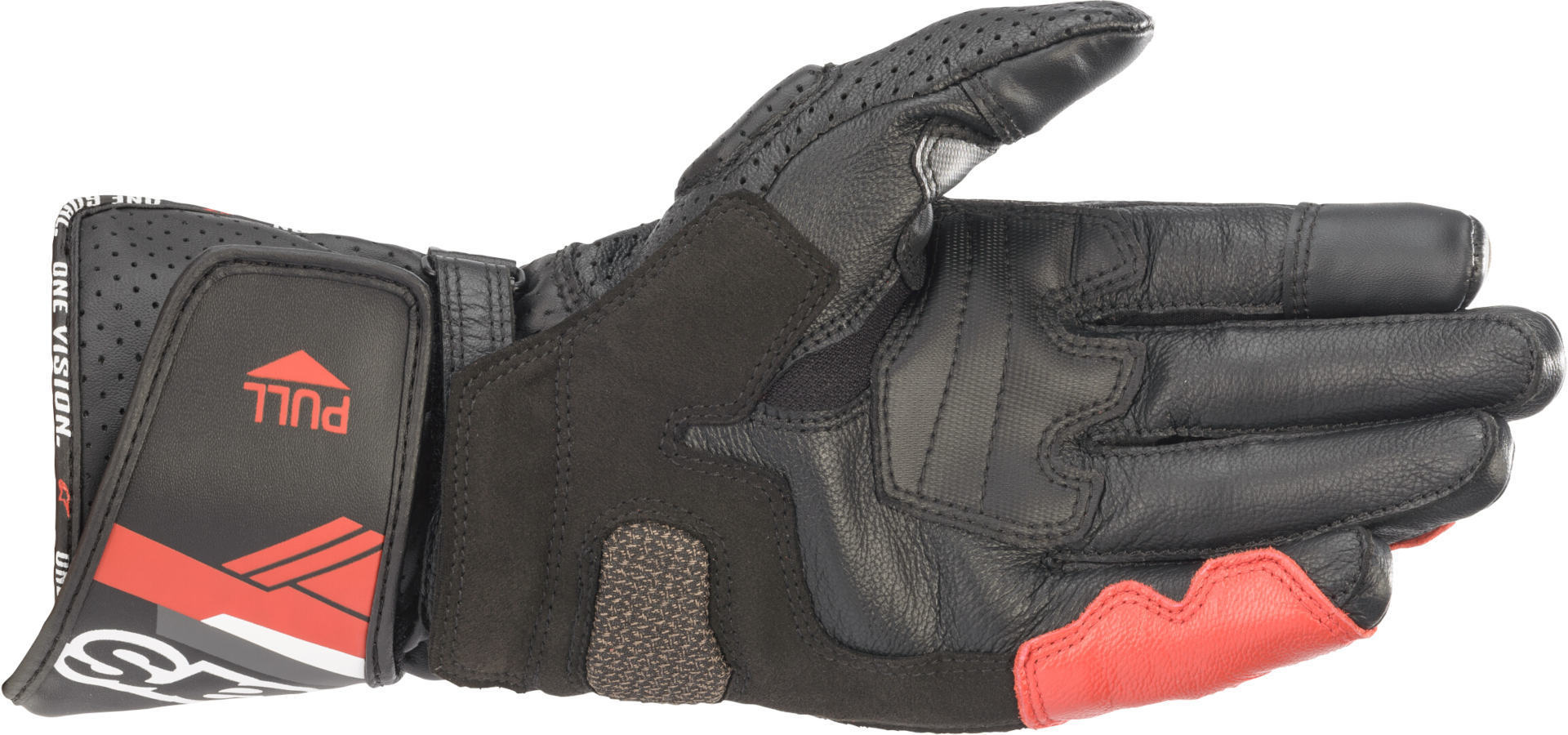 Guanti moto in pelle con protezioni Alpinestars SP-8 V3 Nero Bianco Rosso 2