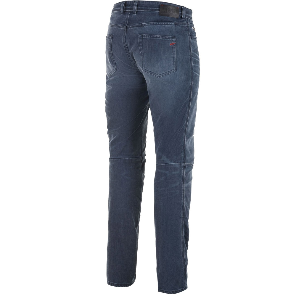 Jeans da moto con protezioni Alpinestars AS-DSL SHIRO RID DENIM blue 2