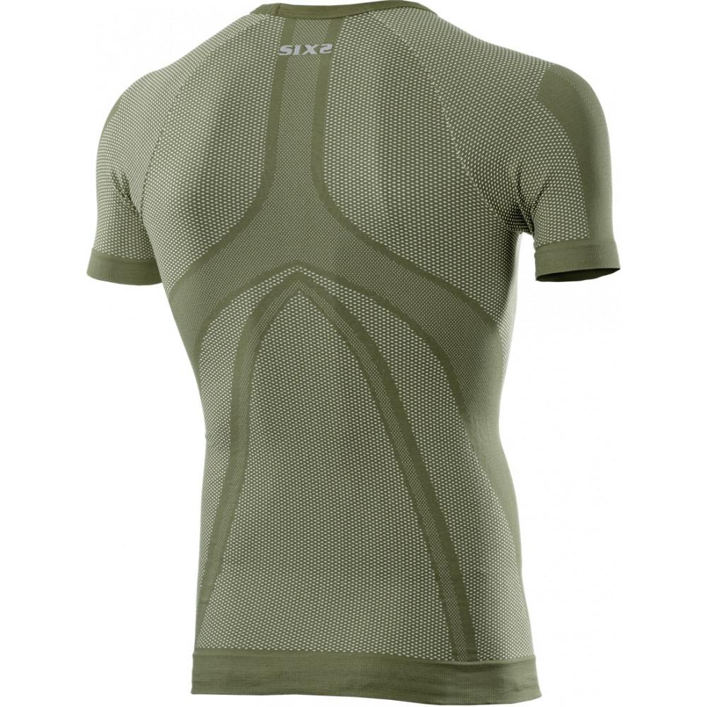 Maglia intima termoregolante SIXS Verde militare manica corta 2