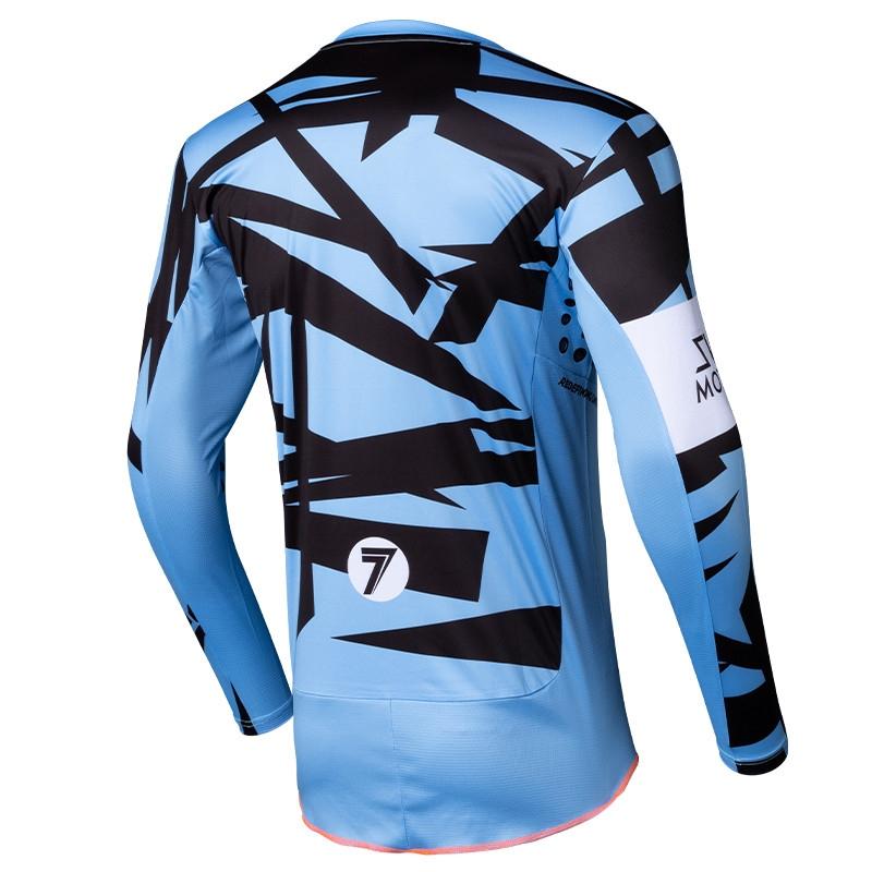 Completo cross Seven Rival Trooper 2 Blue 2020 pantaloni+maglia 4