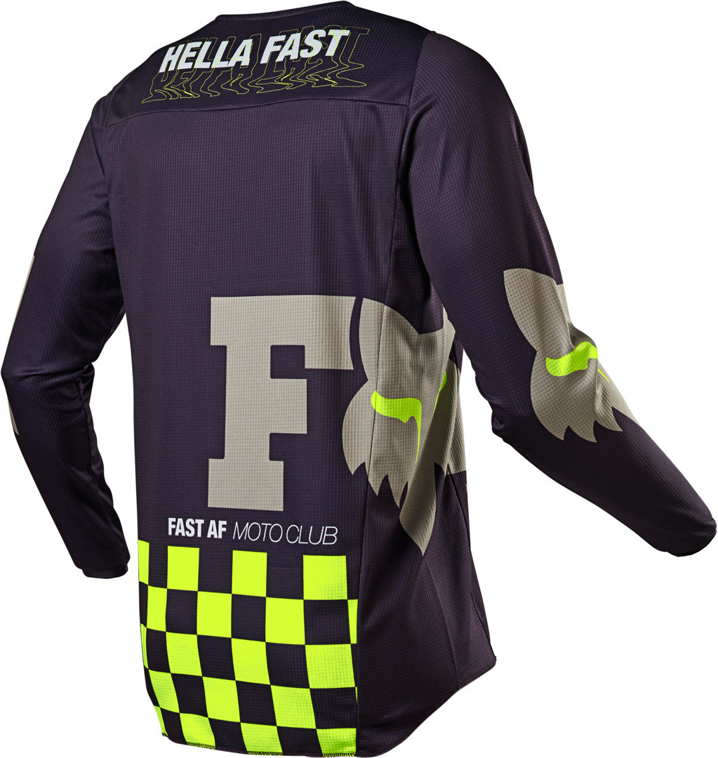 Completo cross enduro Fox 180 ILLMATIK Dark Purple Sand 2021 pantaloni+maglia 3