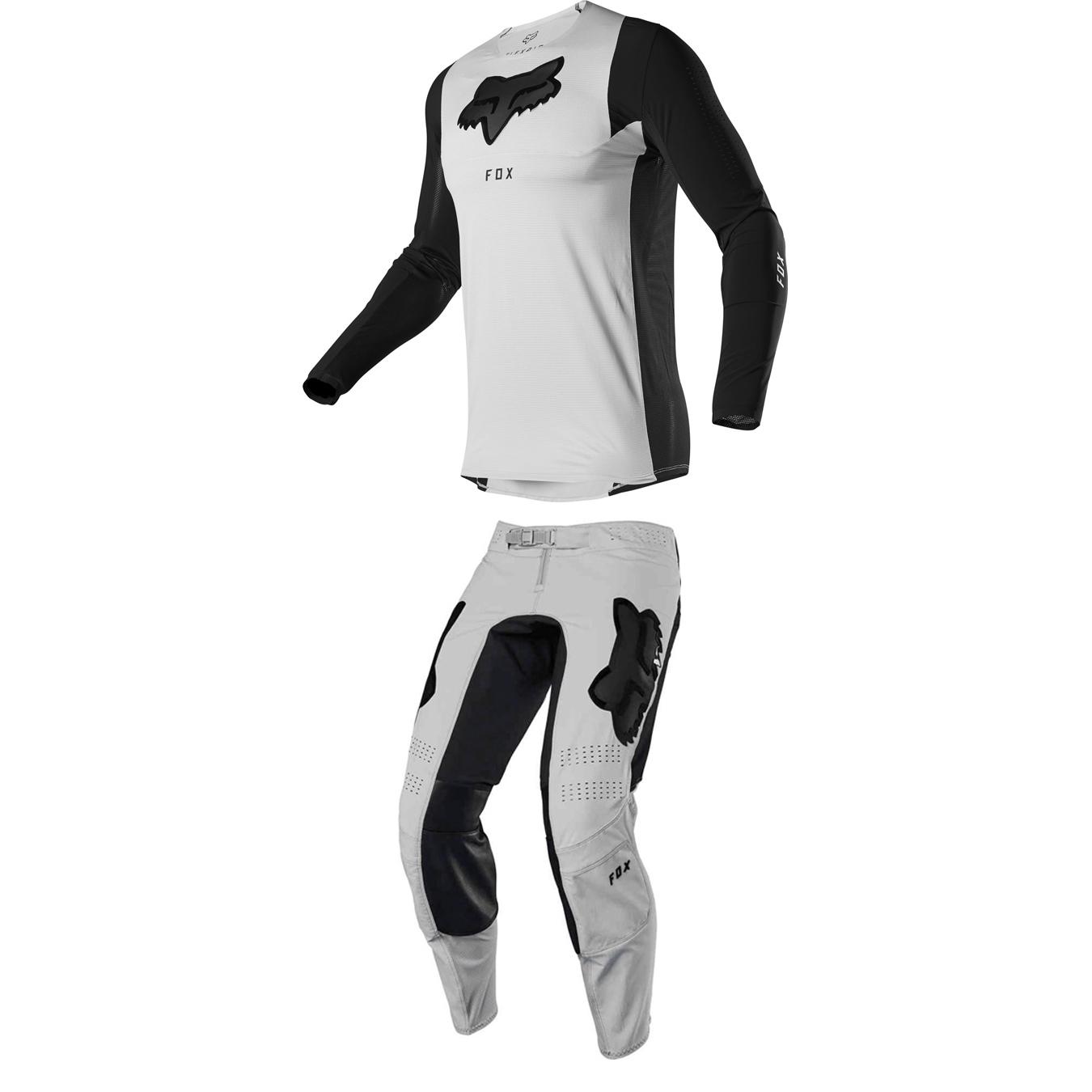 Completo cross enduro Fox FLEXAIR DUSC Grey 2020 pantaloni+maglia 1