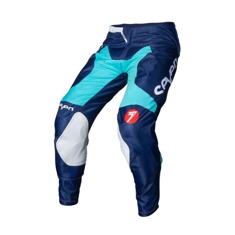 Completo cross Seven ANNEX BORTZ aqua navy 2020 pantaloni+maglia 2