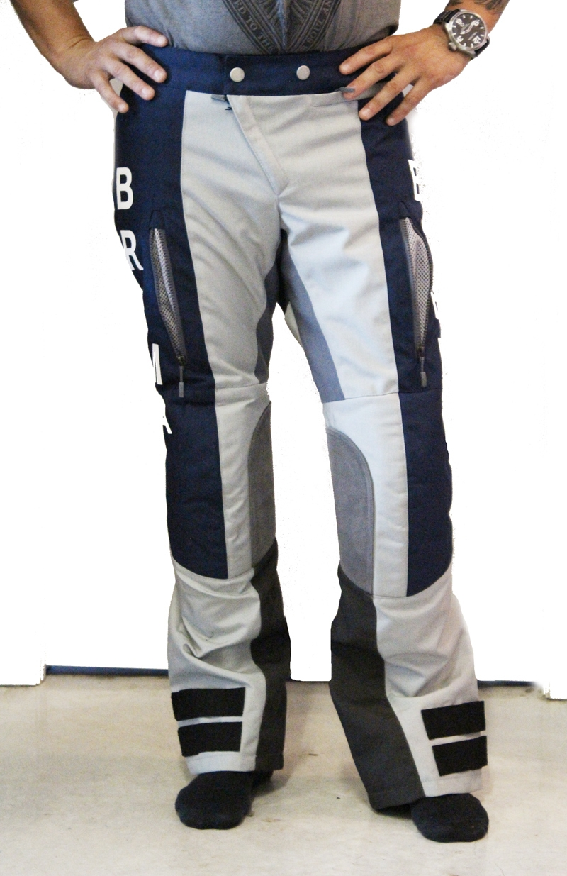 Pantaloni moto Brema SILVER VASE ADVS P-Man Blu Navy Grey 1