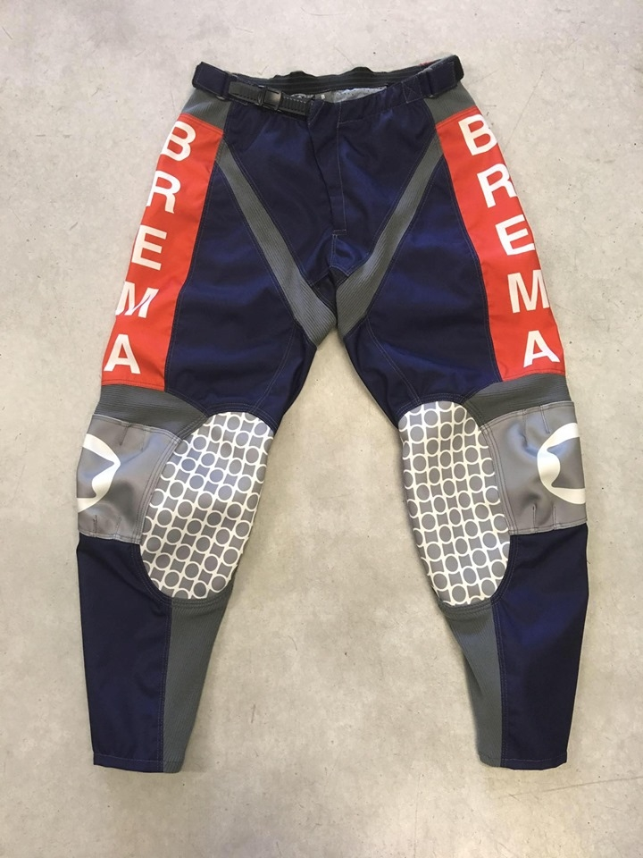 Pantaloni moto Brema TROFEO 2 Navy Arancio 1