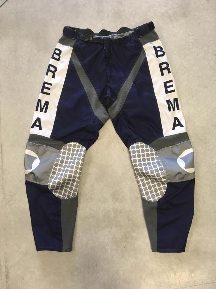 Pantaloni moto Brema TROFEO 2 Navy Bianco 1