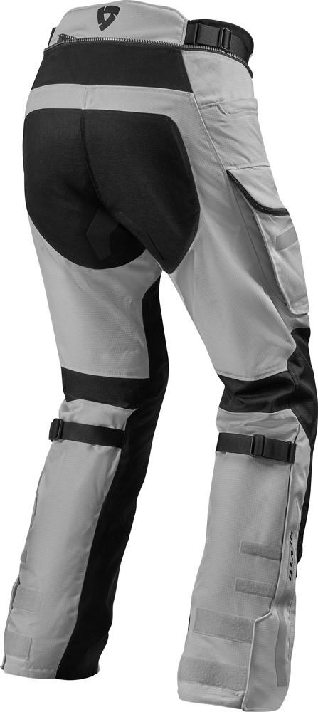 Pantaloni moto Rev'it SAND 4 H2O Argento Nero 2