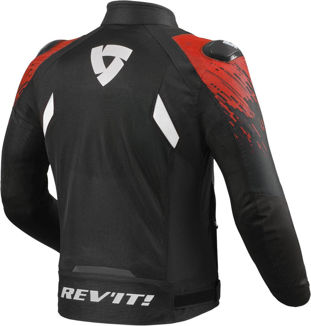 Giubbino moto ventilato Rev'it QUANTUM 2 AIR Nero Rosso 2