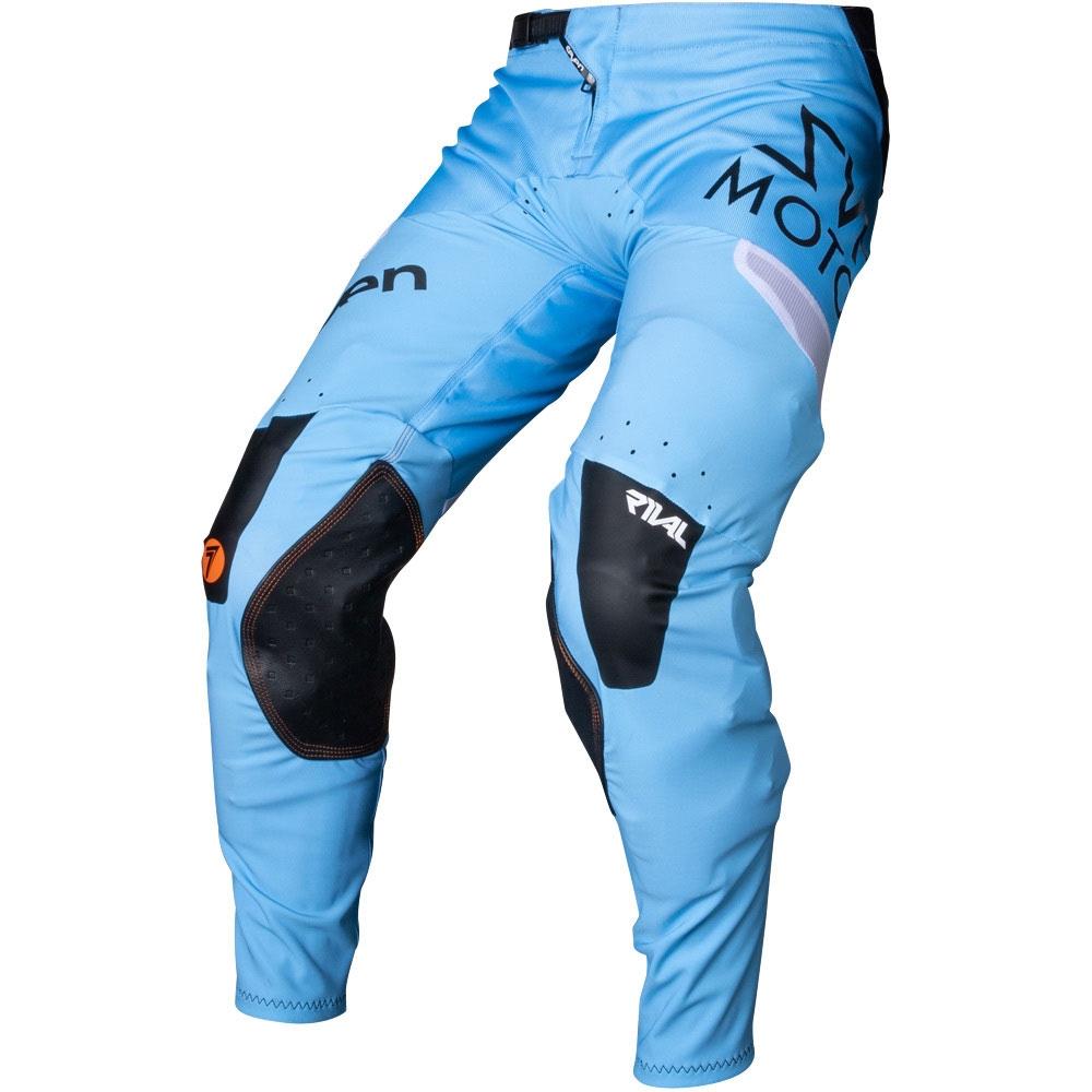 Completo cross Seven Rival Trooper 2 Blue 2020 pantaloni+maglia 2