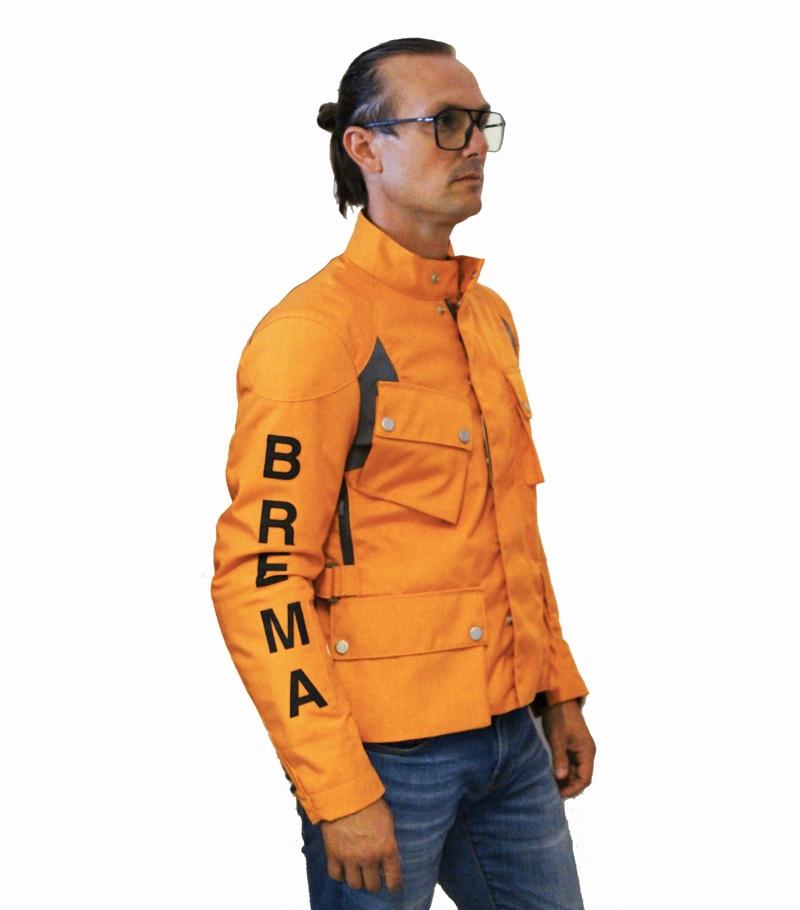 Giacca moto Brema SILVER VASE ADVS-Man Orange 2