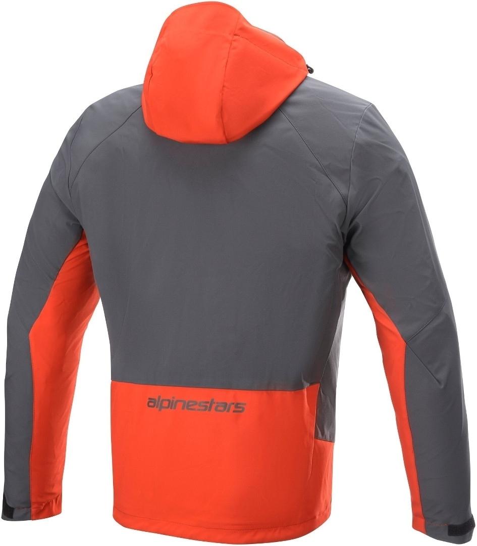 Giacca moto Alpinestars STRATOS TECHSHELL DS arancio grigio 2