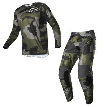 Completo cross Alpinestars RACER SUPERMATIC light gray black 2021 pantaloni+maglia