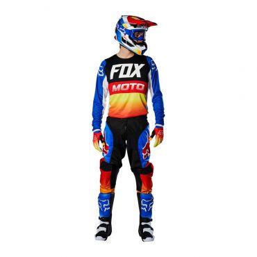 Completo cross enduro Fox 180 FYCE Grey Red 2020 pantaloni+maglia