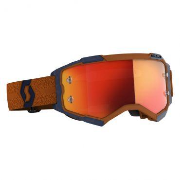 Occhiali (maschera) cross 100% STRATA 2 ORANGE lente specchio oro