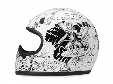 Casco jet DMD Vintage SOLID WHITE