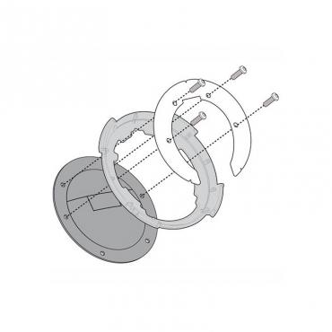 Portaborsa in alluminio da montare su piastre monokey Givi EX2M