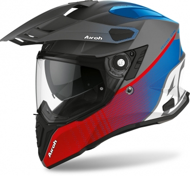 Casco integrale dual road Airoh COMMANDER CARBON Yellow Gloss