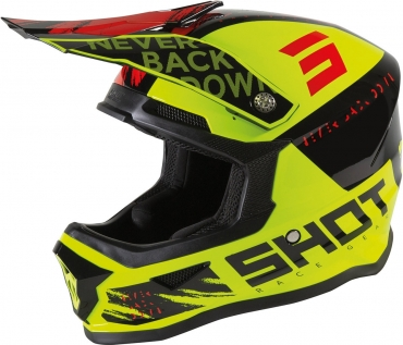 Casco cross bambino Shot FURIOUS DRAW Blue Red Matt