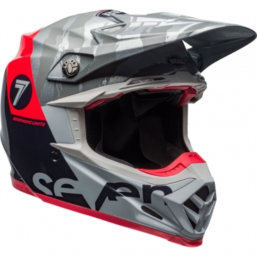 Casco Just1 cross enduro J12 UNIT red white