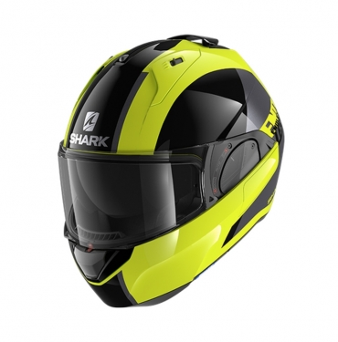 Casco modulare Caberg HORUS SCOUT Matt Black Yellow anthra silver