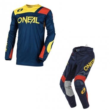 Completo cross O'Neal ELEMENT VILLAIN 2020 Grigio maglia+pantaloni