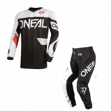 Completo cross O'Neal ELEMENT WARHAWK blue red 2020 maglia+pantaloni