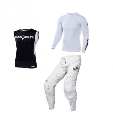 Completo cross Alpinestars RACER COMPASS off white red fluo blue 2022 pantaloni+maglia