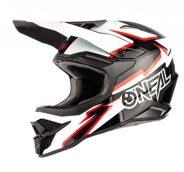 Casco cross enduro O'Neal serie 5 Polyacrylite HR black/white