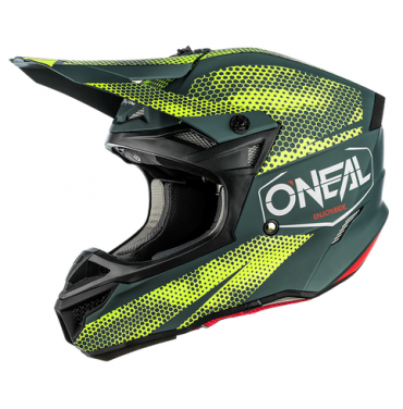 Casco cross Alpinestars S-M5 ROVER Anthracite Red Fluo Gray Camo