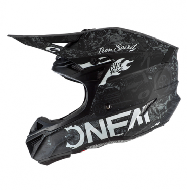 Casco cross enduro O'Neal serie 5 Polyacrylite WARHAWK black/green