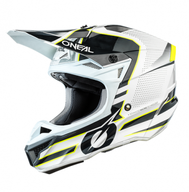 Casco cross enduro O'Neal Serie 3 VOLTAGE black/white
