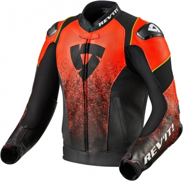 Giubbino moto pelle Rev'it PROMETHEUS Nero